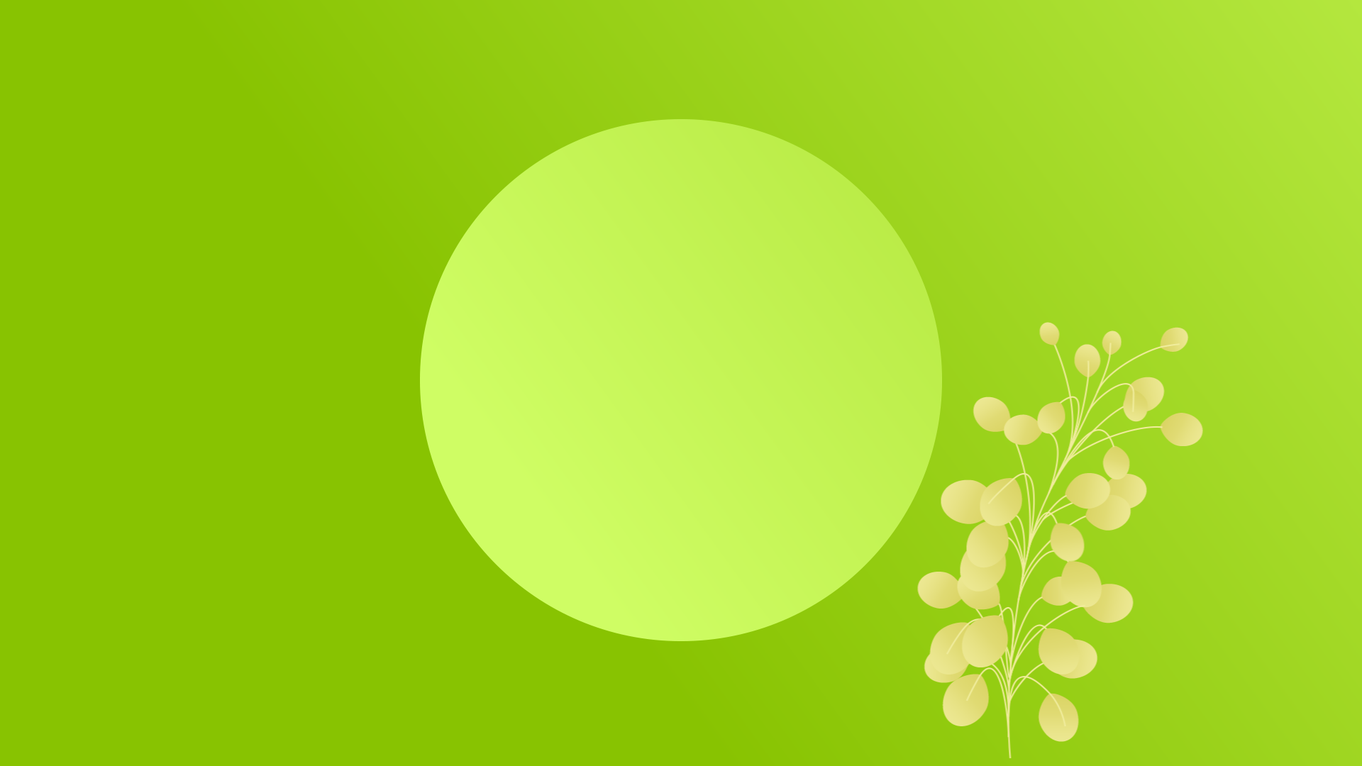 Conversational marketing, inner circle of creative marketing, green circle on green background with growing green plant.