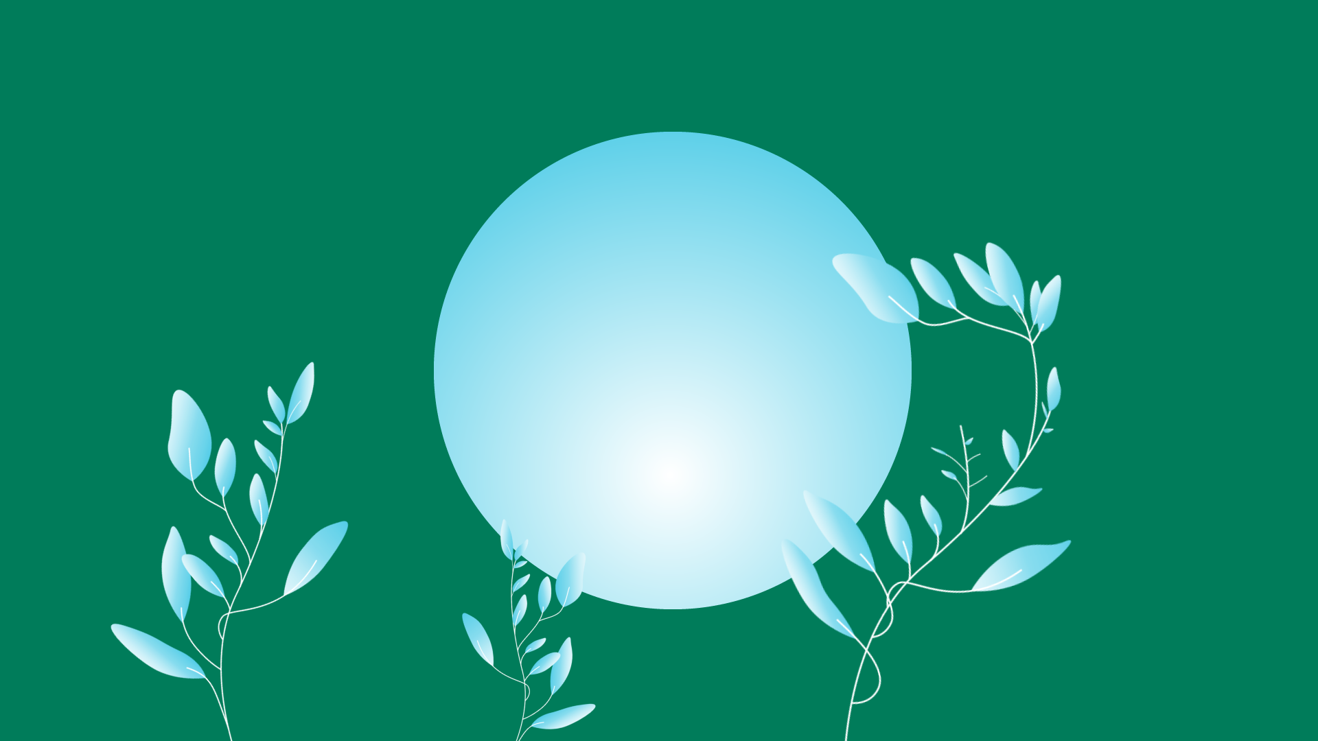 Sequences, inner circle of growth hacking, blue circle on green background with sprouting blue leafy plants.