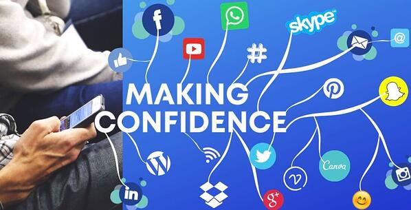 Image of a making confidence social media sign